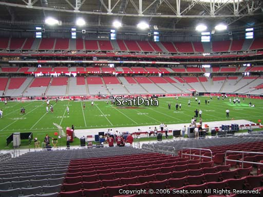 View from section 131 at University of Phoenix Stadium, home of the Arizona Cardinals