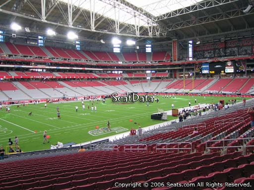 View from section 135 at University of Phoenix Stadium, home of the Arizona Cardinals