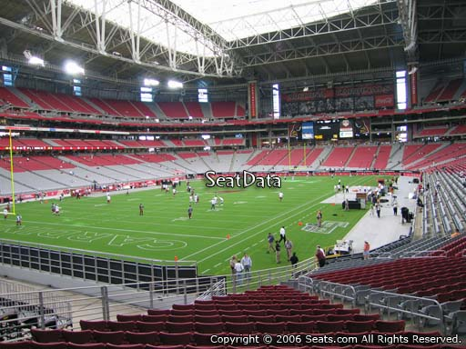 View from section 137 at University of Phoenix Stadium, home of the Arizona Cardinals