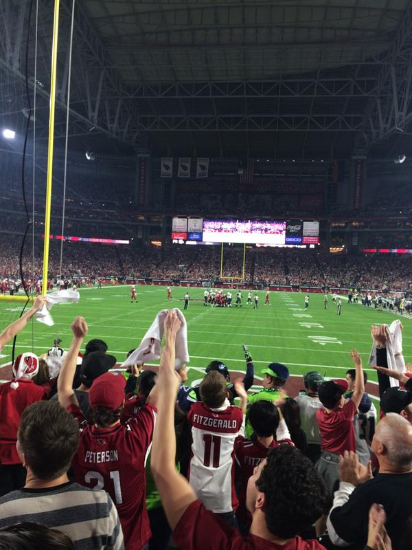 View from Section 140 at University of Phoenix Stadium, home of the Arizona Cardinals