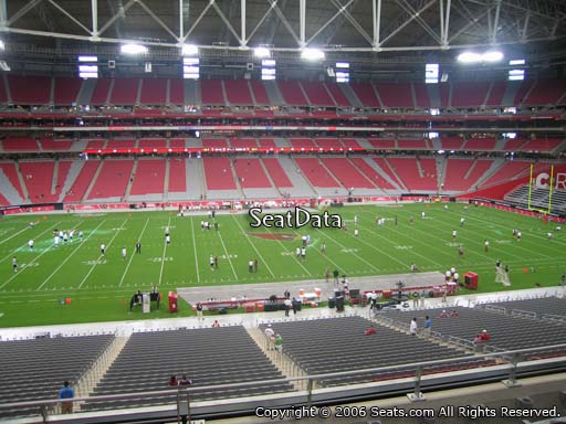 View from section 213 at University of Phoenix Stadium, home of the Arizona Cardinals