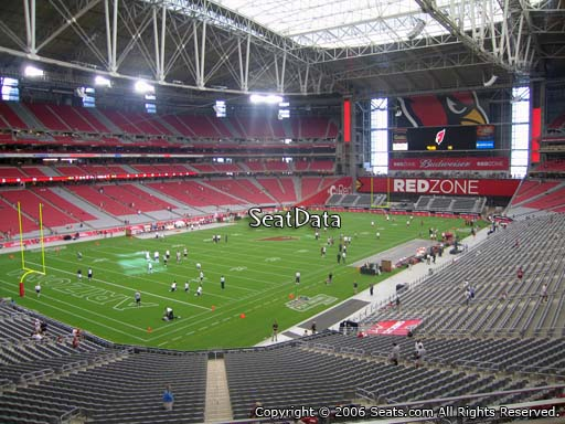 View from section 220 at State Farm Stadium, home of the Arizona Cardinals