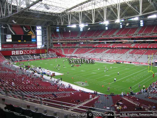 View from section 230 at University of Phoenix Stadium, home of the Arizona Cardinals