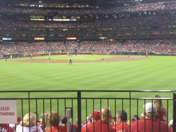 View from the Homer's Landing at Busch Stadium