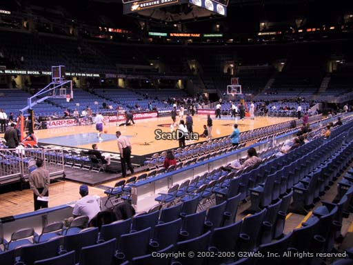 Seat view from section 106 at Quicken Loans Arena, home of the Cleveland Cavaliers