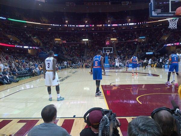Seat view from section 16 at Quicken Loans Arena, home of the Cleveland Cavaliers