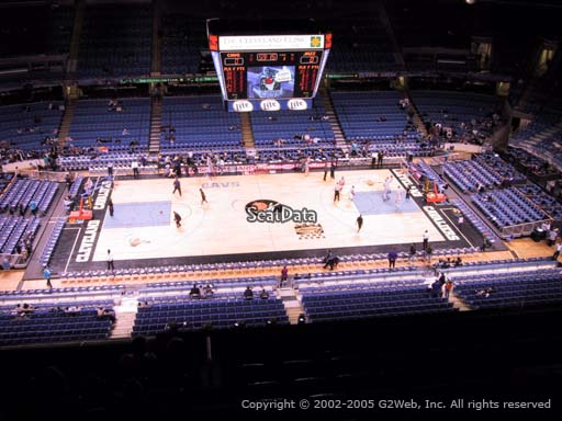 Seat view from section 208 at Rocket Mortgage FieldHouse, home of the Cleveland Cavaliers