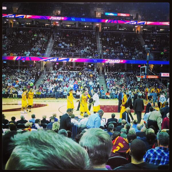 Seat view from section 26 at Quicken Loans Arena, home of the Cleveland Cavaliers