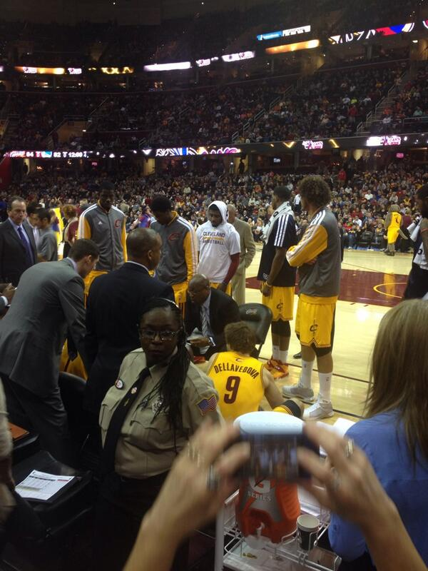 Seat view from section 27 at Quicken Loans Arena, home of the Cleveland Cavaliers