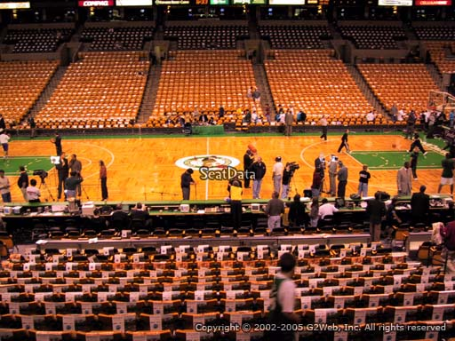 Seat view from section 1 at the TD Garden, home of the Boston Celtics.
