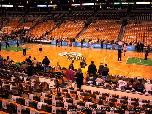Seat view from section 11 at the TD Garden, home of the Boston Celtics.
