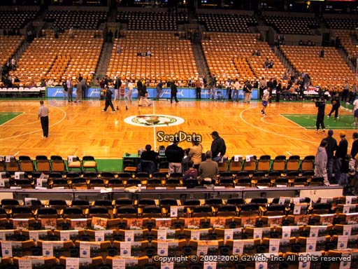 Seat view from section 12 at the TD Garden, home of the Boston Celtics.