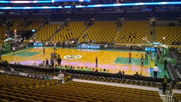 View from Club Section 139 at the TD Banknorth Garden, home of the Boston Celtics
