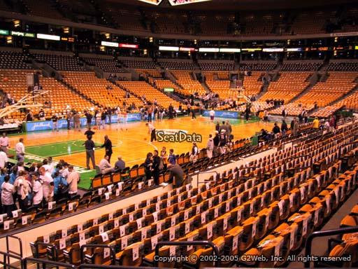Seat view from section 15 at the TD Garden, home of the Boston Celtics.