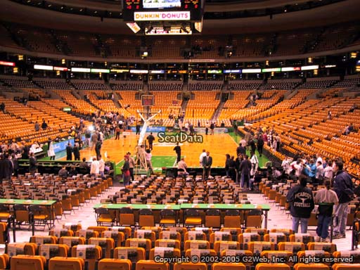 Seat view from section 17 at the TD Garden, home of the Boston Celtics.