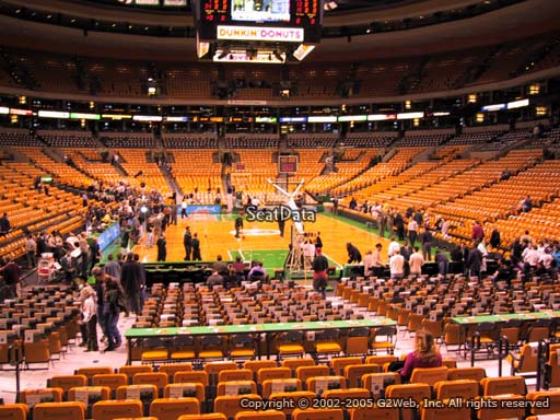 Seat view from section 18 at the TD Garden, home of the Boston Celtics.