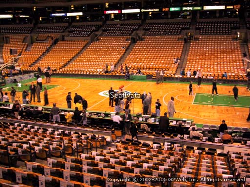 Seat view from section 22 at the TD Garden, home of the Boston Celtics.