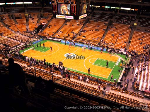 Seat view from section 314 at the TD Garden, home of the Boston Celtics.