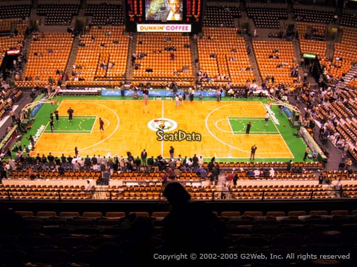 Seat view from section 316 at the TD Garden, home of the Boston Celtics.