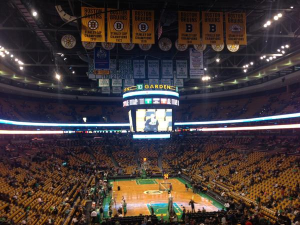 View from the AT&T SportsDeck at the TD Banknorth Garden, Home of the Boston Celtics