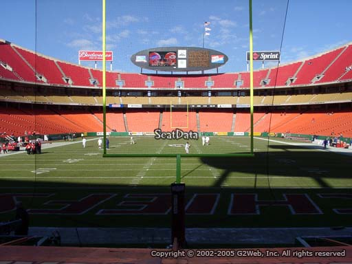 Seat view from section 109 at Arrowhead Stadium, home of the Kansas City Chiefs