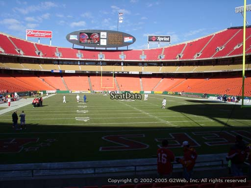 Seat view from section 110 at Arrowhead Stadium, home of the Kansas City Chiefs