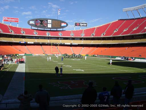 Seat view from section 111 at Arrowhead Stadium, home of the Kansas City Chiefs