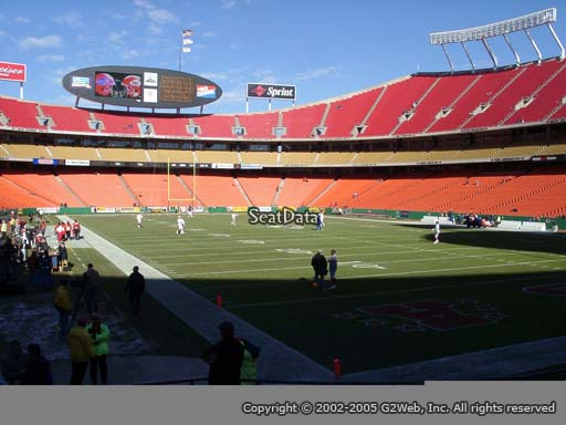 Seat view from section 112 at Arrowhead Stadium, home of the Kansas City Chiefs