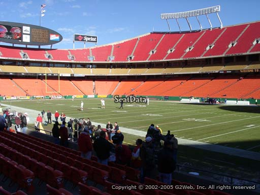 Seat view from section 114 at Arrowhead Stadium, home of the Kansas City Chiefs