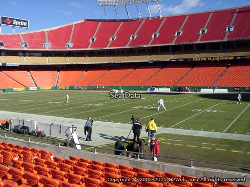 Seat view from section 116 at Arrowhead Stadium, home of the Kansas City Chiefs