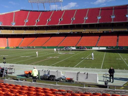 Seat view from section 117 at Arrowhead Stadium, home of the Kansas City Chiefs