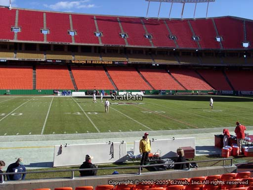Seat view from section 119 at Arrowhead Stadium, home of the Kansas City Chiefs