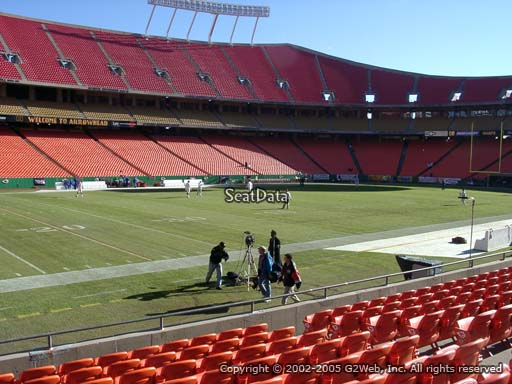 Seat view from section 121 at Arrowhead Stadium, home of the Kansas City Chiefs