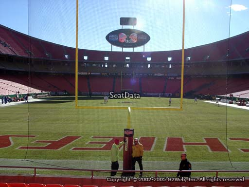 Seat view from section 127 at Arrowhead Stadium, home of the Kansas City Chiefs