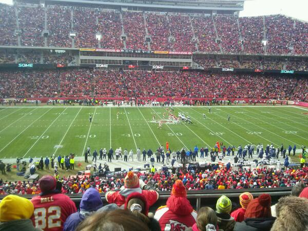 Seat view from section 202 at Arrowhead Stadium, home of the Kansas City Chiefs