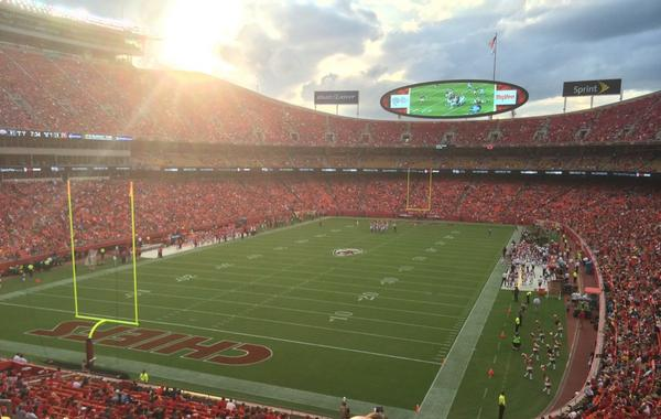 Seat view from section 209 at Arrowhead Stadium, home of the Kansas City Chiefs