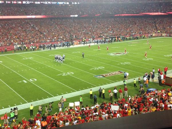 Seat view from section 228 at Arrowhead Stadium, home of the Kansas City Chiefs