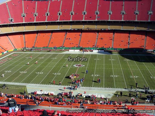 Seat view from section 322 at Arrowhead Stadium, home of the Kansas City Chiefs