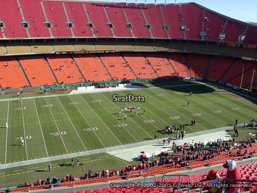 Seat view from section 326 at Arrowhead Stadium, home of the Kansas City Chiefs