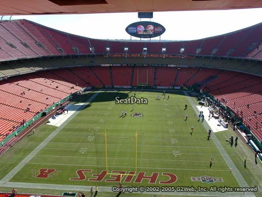Seat view from section 334 at Arrowhead Stadium, home of the Kansas City Chiefs