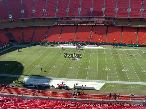 Seat view from section 345 at Arrowhead Stadium, home of the Kansas City Chiefs