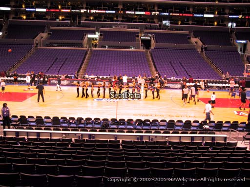 Seat view from section 111 at the Staples Center, home of the Los Angeles Clippers