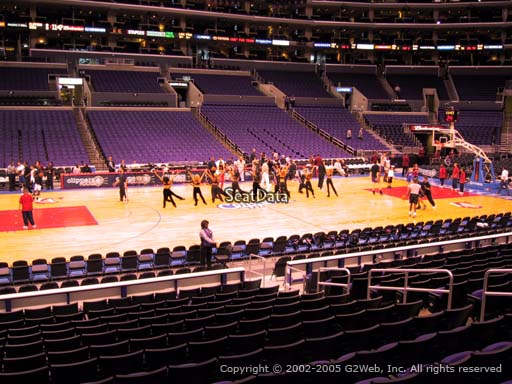 Seat view from section 112 at the Staples Center, home of the Los Angeles Clippers