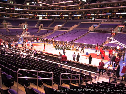 Seat view from section 118 at the Staples Center, home of the Los Angeles Clippers