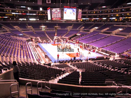 Seat view from section 209 at the Staples Center, home of the Los Angeles Clippers