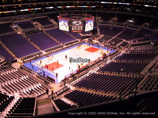 Seat view from section 305 at the Staples Center, home of the Los Angeles Clippers