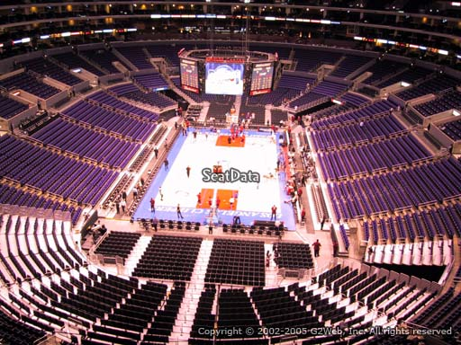 Seat view from section 309 at the Staples Center, home of the Los Angeles Clippers
