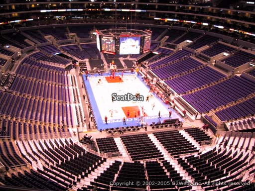 Seat view from section 311 at the Staples Center, home of the Los Angeles Clippers