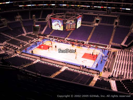 Seat view from section 316 at the Staples Center, home of the Los Angeles Clippers