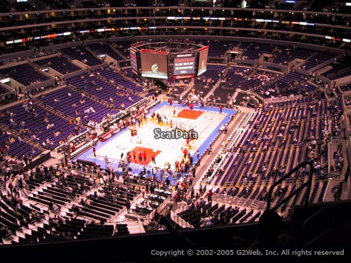 Seat view from section 324 at the Staples Center, home of the Los Angeles Clippers